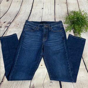Uniqlo dark wash slim straight leg jeans